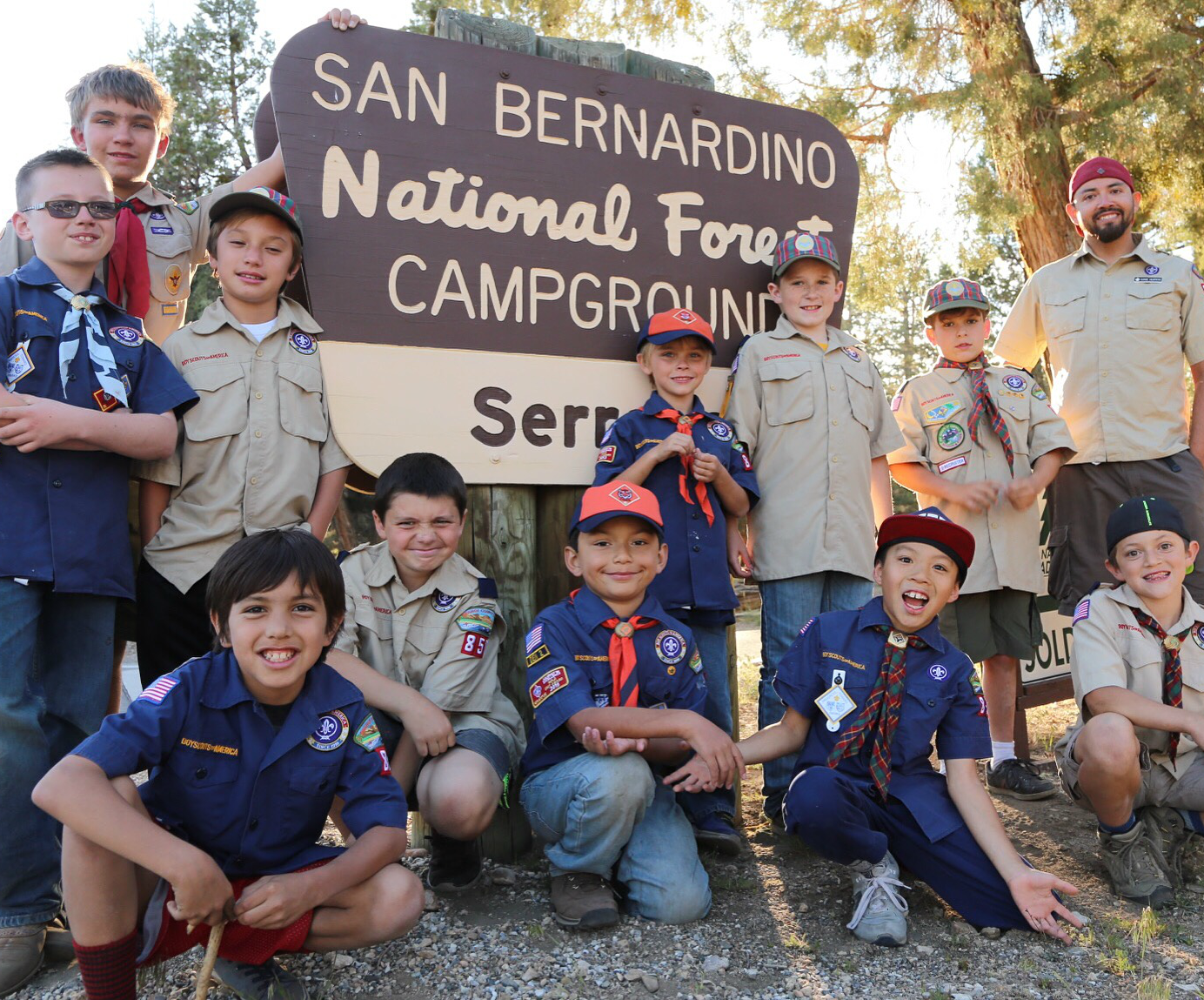 Cub Scout Camping Orange CA